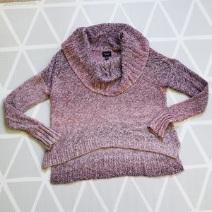American Eagle Chunky Ombre Rose Cowl Neck Sweater